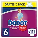 Dodot Activity Pants - Pañal-Braguita, 15+kg + Dodot Aqua Pure Toallitas para bebé, 1 Pack de 48 Toallitas Gratis, Talla 6, 111 Pañales