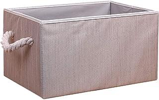 Gertok Boîtes de Rangement en Tissu Coffee,Boîtes de Rangement des Jouets pour Enfants Cube,Boite de Rangement Tissu,boite...