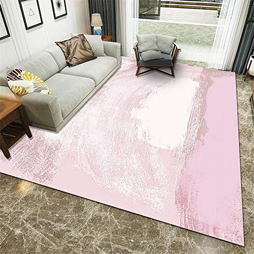 TEPPICH-CY-ZK tapijt Duurzame luxe Sofa tapijten Roze en wit inkt ontwerp moderne minimalistische kinderen spelen tapijt antislip tapijten