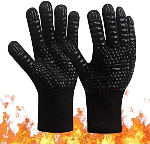 Barbecue BBQ Oven Glove Fireproof 1472 F Extreme Heat Proof Barbecue Gloves for Handling Heat product image