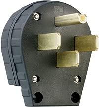 Legrand3867CC5 Angle Plug Three Pole Four Wire 30-Amp/50-Amp 125-volt/250-volt, Plastic, Black