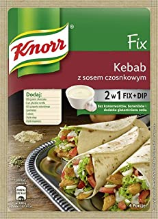 Knorr Fix Kebab z Sosem Czosnkowym Kebab with Garlic Sauce Marinade 2 in 1 Fix + Dip (3-Pack)
