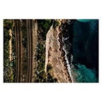 1000ピース ジグソーパズル 風景 イタリアの海海岸に沿う鉄道の空撮 子供 おもちゃ 室内 プレゼント 誕生日プレゼント 女の子 男の子 知育玩具