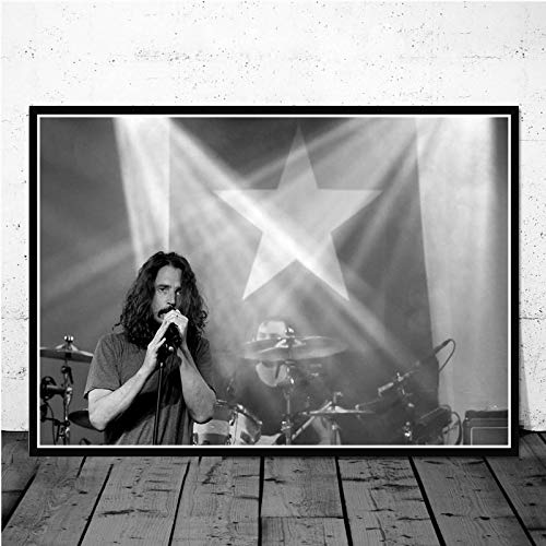 YF'PrintArt Canvas Prints, Chris Cornell Music Singer Star Canvas Painting Pictures On The Wall Vintage Art Decorative Home Decor 50X70Cm No Cuadro,-Yf2258