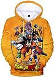 PANOZON Sudadera Goku Bola de Dragón para Hombre Hoodie de Dragon Ball Figuras de Anime Camiseta Mangas Largas (XL, Dragon Ball 496-1)