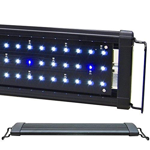 """BeamsWork EA White Blue LED Aquarium Fish Tank Light Extendable Timer Ready (72"""" - 76"""")"""