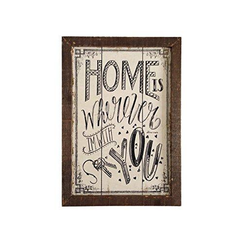 Mobili Rebecca® Plaques Decoration Murale Bois Vintage Marron Noir Home with You (Cod. RE4983)