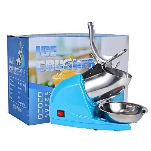 Electric Ice Crushers Machine Ice Snow Cone Maker Professional Double Blades Stainless...