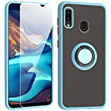 SHIYISHI for Samsung Galaxy A20 Case with Screen Protector, Slim Durable Hybrid St