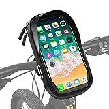 Aspiree Bike Frame Bag, Bolsas de Bicicleta, Bolsa Táctil Bicicleta Impermeable,Cremallera Doble Viseras y Pantalla táctil TPU, Bolsa para Cuadro Bicicleta para Teléfono Movil Dentro de 6,5 Pulgadas