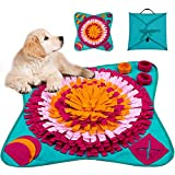 LIVACASA Snuffle Mat Foldable for Large Dogs Washable Pet Feeding Nosework Treats Mat Puzzle...