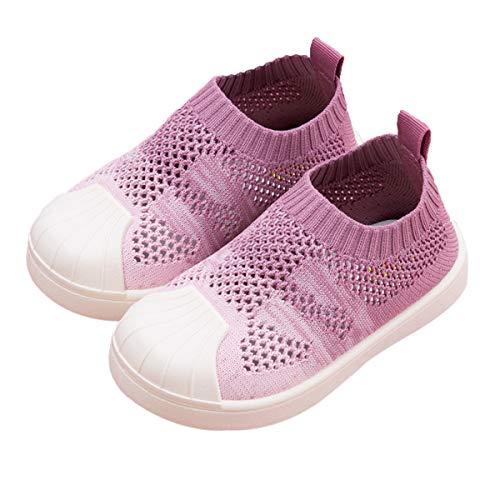 DEBAIJIA Scarpe per Bambini 1-7 T Baby Walking Graduale Cambiamento Colore Suola Morbida Antiscivolo Mesh 30/31 EU Rosa(Etichetta Taglia 29)