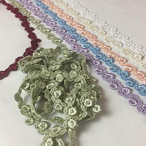 5 Yard Lot 5//8 of an Inch Alternating Flower and Leaf Venice Lace Trim