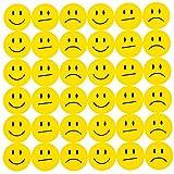 Oblique Unique 180 Gelbe Smiley Face Sticker ø 2cm - Lächeln - Neutral - Traurig