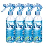 Flor instant perfume para la ropa, fragancia azul - pack de 4