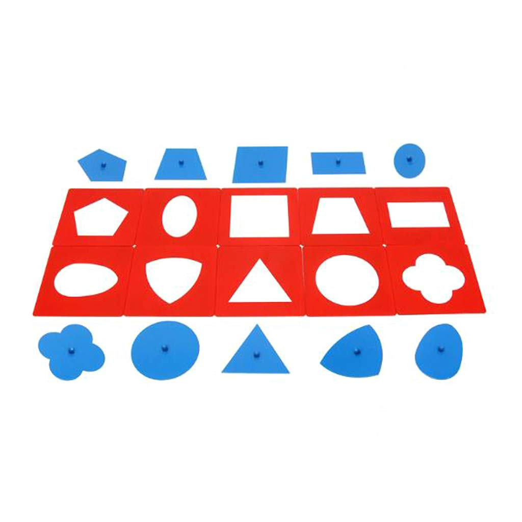 minansostey Baby Toys Montessori Materials Professional Quality Metal Insets Set