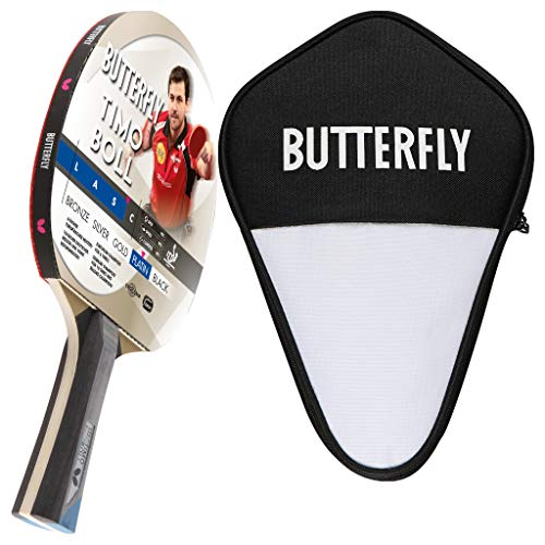 Butterfly Timo Boll Platin Tischtennisschläger + Tischtennishülle | Tischtennisschlägerset | Tischtennis Profi Set