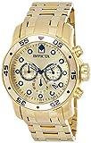 Reloj Invicta Pro Diver para Hombres 48mm, pulsera de Acero Inoxidable Recubierto de Oro, cubierta de Zafiro