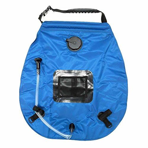 Docooler Lichtgewicht draagbare outdoor camping douche tas met afneembare slang en schakelbare douchekop