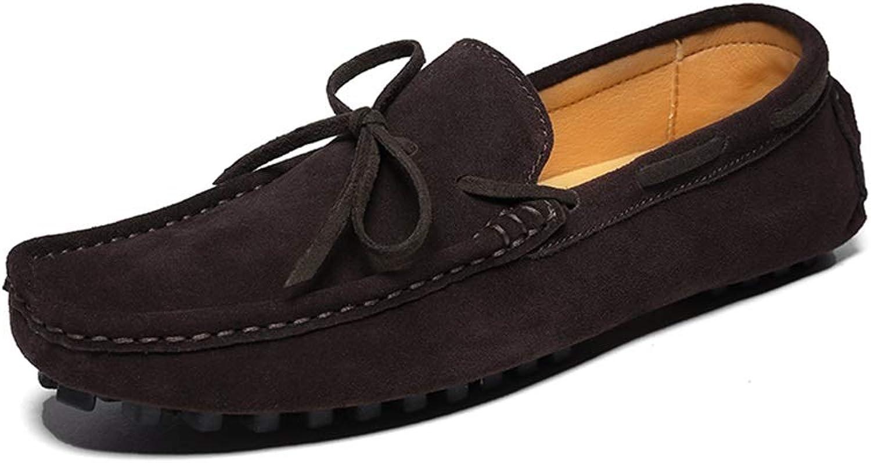 Casual Driving Loafer Herren Stiefel Mokassins Schnüren Flache Flache Penny Schuhe Slip-on Wildleder Leder,Grille Schuhe (Farbe   Schwarz, Größe   47 EU)  authentisch online