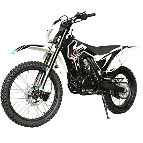 X-PRO Titan 250cc Dirt Bike with LED Light Zongshen Engine Pit Bike Gas Dirt Bikes Adult Dirt Pitbike 250cc Gas Dirt Pit Bike, Big 21'/18' Wheels!(Black)