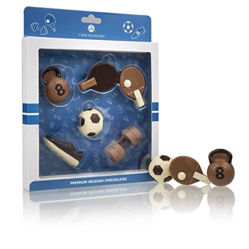 Schokoladiges Sportler-Set - Sport-Zubehör aus Schokolade   Schoko   Geburtstagsgeschenk   Kinder   Erwachsene   Mann   Frau   lustige Geschenkidee   Sport Fan   Geschenke für Sportler