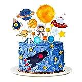 MMTX Toppers para Tartas Decoraciones Cumpleaños Niño de Pastel de Espacio Astronauta Ideal para...