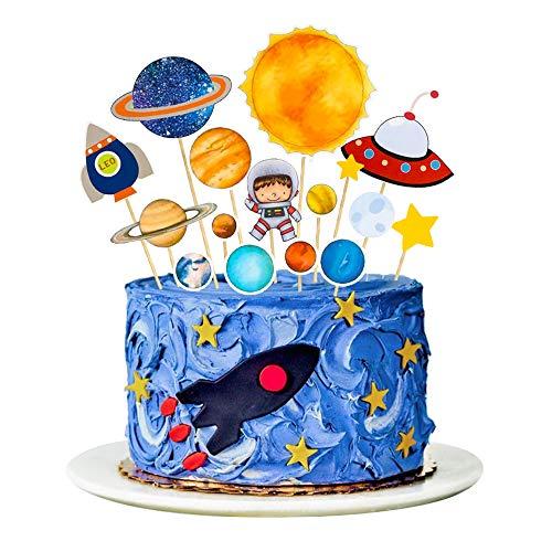 MMTX Tortendeko Geburtstag Einschulung Junge Deko Tortendekoration Kuchen Topper für Kinder(15 Stück)