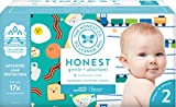 The Honest Company Club Box Diapers with TrueAbsorb Technology, Trains & Breakfast, Size 2, 76 Count