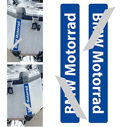 2 adhesivos reflectantes compatibles con Motorrad R 1200 1250 1150 F 800 650 F700 GS A R1200GS R1200 para Touratech Motorcycle Aluminium Panniers maletas laterales (azul)