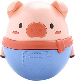 Anniston Kids Toys, Infant Baby Lovely Cartoon Pig Tumbler Doll Rattles Teether Toddler Bath Toy Puzzles & Magic Cubes for...