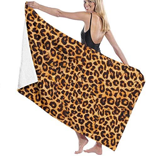 LREFON Toallas de baño de Piel de Animal con Estampado de Leopardo Toalla de Ducha de Secado rápido de Moda Toalla de natación de Playa Suave con Personalidad (31.5X51.2 Pulgadas)