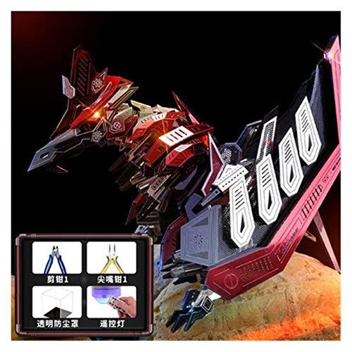 Youpin DIY Red Devils Skorpion Metall 3D-Puzzle, lasergeschnittene Modell-Kits, Puzzle-Spielzeug, mehrere Modelle warten auf Sie zu entsperren (Farbe: mehrfarbig)