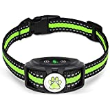 Bark Collar,No Shock Dog Bark Collar with Beep & Vibration Modes,Humane and Rechargeable No Barking Collar with 5 Adjustable Sensitivity Levels,Great for Small Medium and Large Dog, Waterproof
