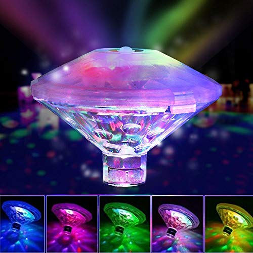 Pond Lights Floating Hot Tub Lights Waterproof Underwater Light Floating Pool Led Tub Lights Lamp Battery Operated 7 Modes Assorted Color for Spa, Swimming Pool, Fish Tank, Bath Tub,Decorations