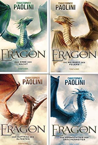 Eragon 1-4 komplett (Das Vermächtnis der Drachenreiter - Der Auftrag des Ältesten - Die Weisheit des Feuers - Das Erbe der Macht) 1,2,3,4
