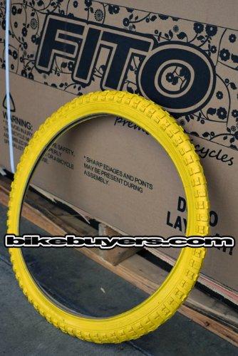 1 Pair of Duro 20' x 1.75' Tire - Yellow, for Beach Cruiser, BMX, Mountain Bikes Bicycles