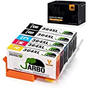 JARBO Replacement for HP 364XL 364 XL Ink Cartridges Compatible with HP Photosmart 5510 5520 5522 6520 B8550 C5388 HP Officejet 4620 HP Deskjet 3070A 3520, 2 Black/Cyan/Magenta/Yellow, Pack of 5
