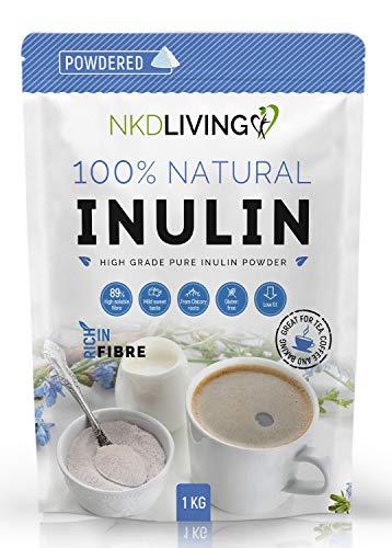 Inulin High Grade Prebiotic Fibre Powder (1 Kg) - Manufactured in The EU (New Bag Design)