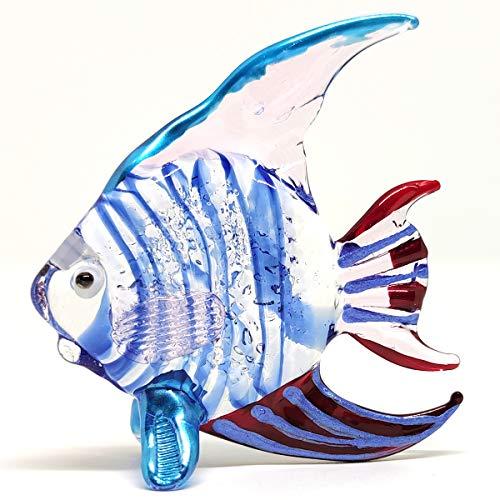 Sansukjai Fisch-Miniatur-Figuren, Tiere, mundgeblasen, farbig, Glas, Kunst,...