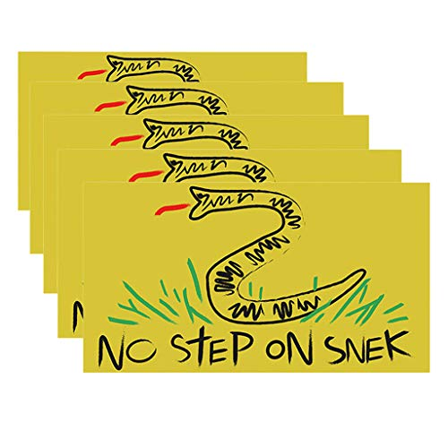 OFEFAN⭐【US STOCK】No Step On Snek Sticker Decal Gadsden Flag America Don't Tread On Me Patriot - Decals Best for Phone, Laptops and Cars Window Bumper Premium Quality Vinyl UV Protective Laminate(5PCS)