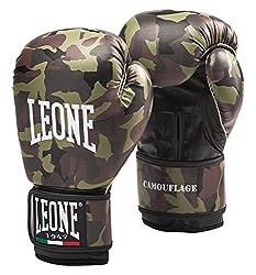 LEONE 1947 Camouflage Boxing Gloves, Camo Green, 10 Uz