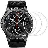 AFUNTA Protectores de Pantalla para Samsung Gear S3 Frontier/Classic, 3 Paquetes Vidrio Templado Película Anti - arañazos Escudo de Alta Definición para Smartwatch
