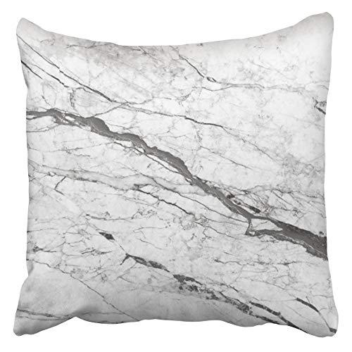 Moily Fayshow Taie d'oreiller Jeter Housse de Coussin Gris Abstrait marbre Blanc Architecture Toile Noire comptoir détail Effet élégance 50X50 Cm