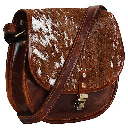 Made from genuine leather and lined with durable Polyester Lining, this bag is hand crafted by artisans working with leather for decades Under main buckle for easy access . Rustic Vintage look which makes each bag unique ( just like the person who ow...