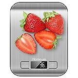 HOMEVER Balance de Cuisine Électronique, Balance numérique de Cuisine de Haute Précision, Fonction Tare, Plus Large...