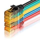 SEBSON Cable de Red Cat 6 Ethernet 0.5m, Gigabit LAN Patch Cable, 1000Mbit/s, U-UTP, Conector RJ45 para Router, Módem, TV - 5 Colores