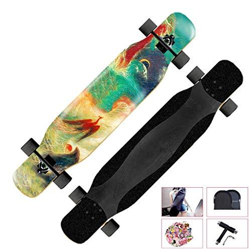 WFFF Cruiser Skateboard Ultrasport pour débutants, débutants, enfants, garçons, filles, adolescents, cruising, carving, freestyle, danse, descente