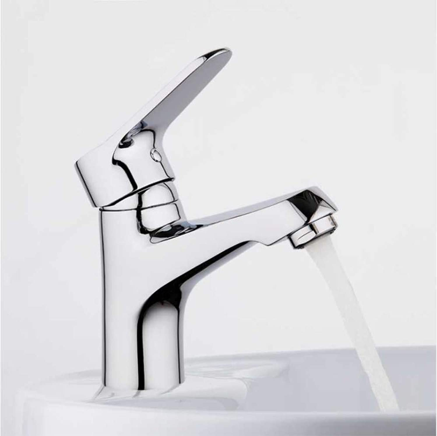 Jukunlun Water Mixer Bathroom Sink Faucet Basin Faucet Chrome Brass Faucet Tap Basin Faucets Single Hole Basin Sink Mixer Tap