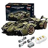 icuanuty Bloques de Construcción para Lambor V12, 2533 Piezas 1: 8 Kit de Construcción de Automóviles con Motores y Control Remoto, Juegos de Construcción Compatible con Lego Technic